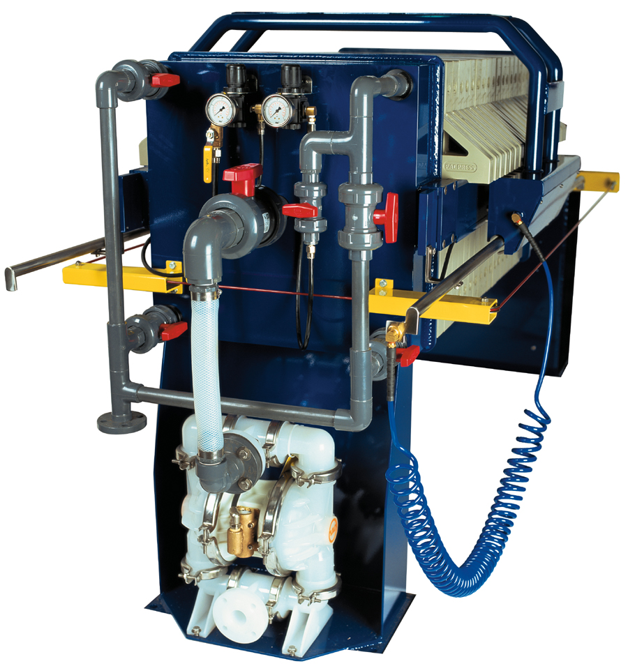 Pacpress products options feed pump for convenience of installation an as a space saving measure air diaphragm pumps are offered as a mountable feature on most smaller filter presses up to ccuart Images